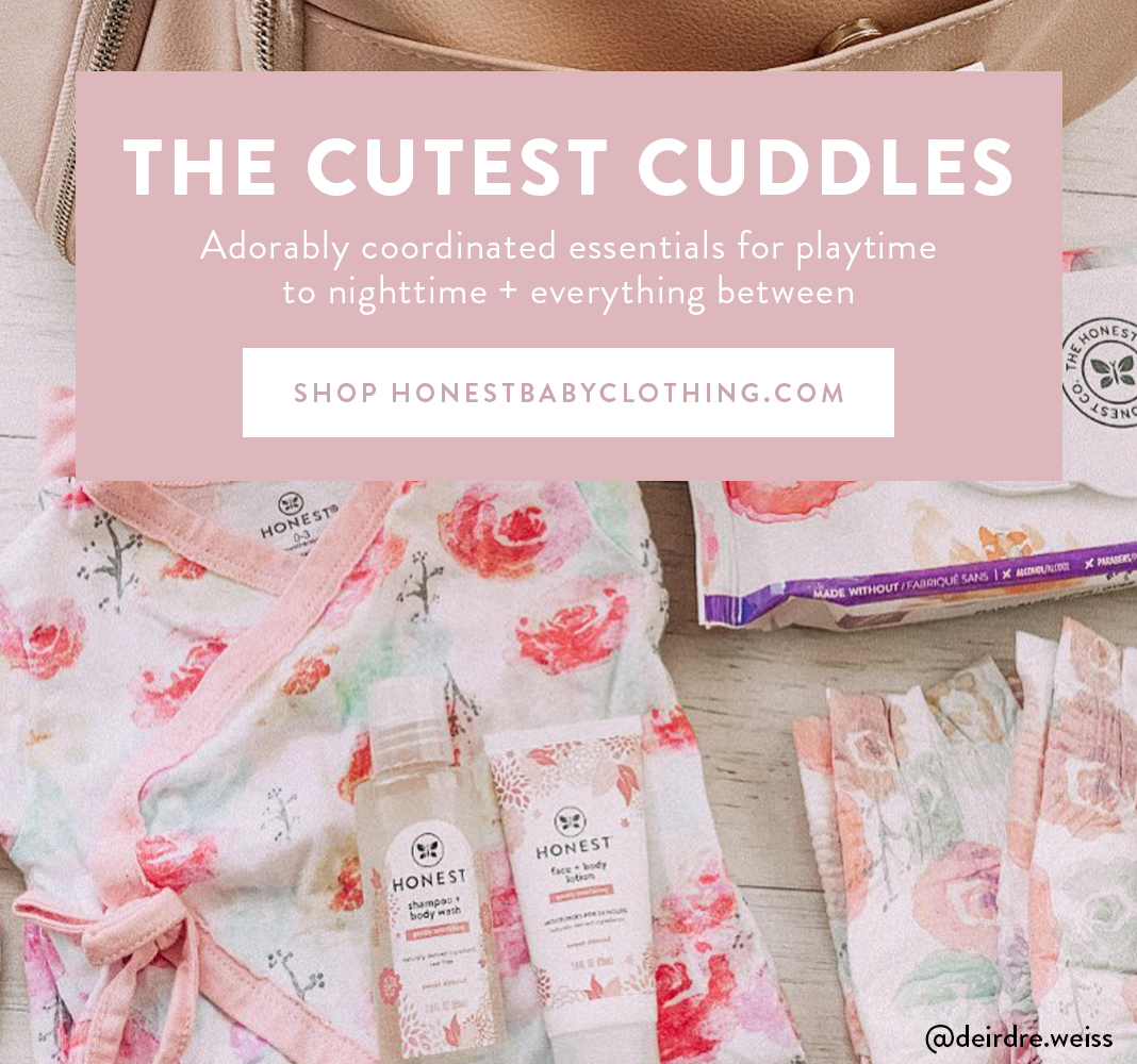 The Cutest Cuddles. Honest Baby Clothing. Visit HonestBabyClothing.com to Shop Now