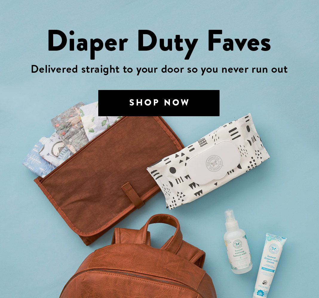 Honest Diapers + Wipes Subscription. Shop Now
