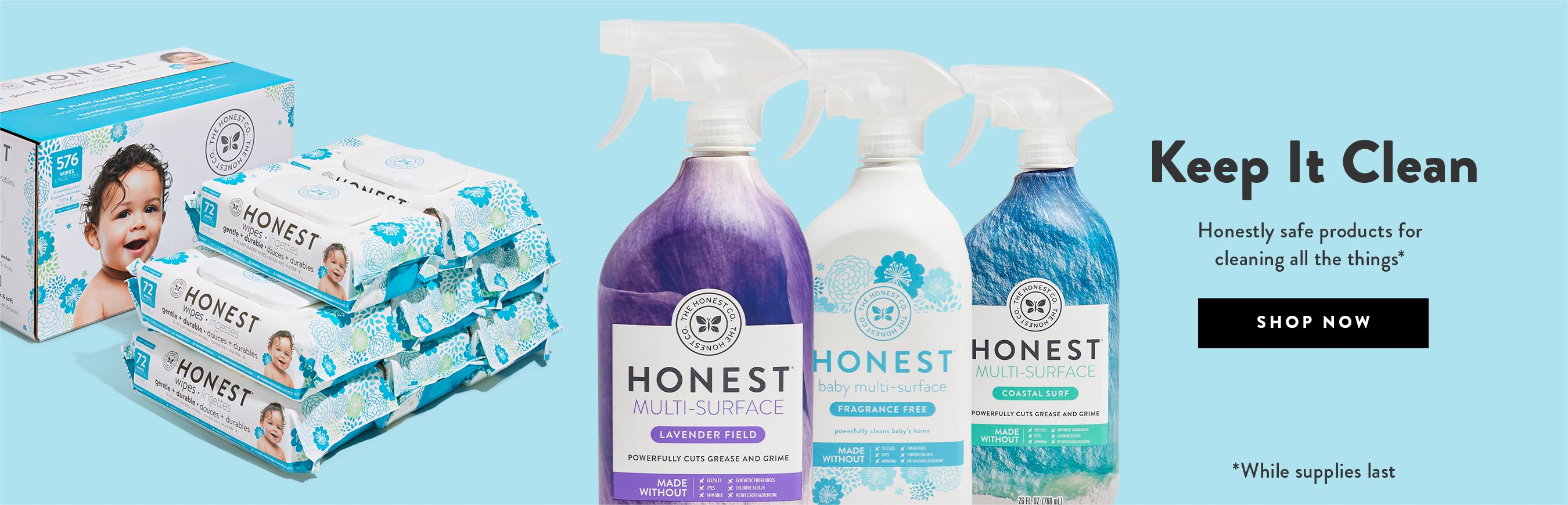 Honest Cleaning Products.This is Clean. Shop Now