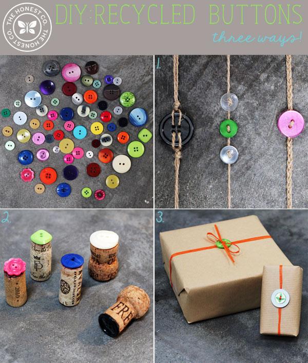 Reuse Buttons for 3 DIYs