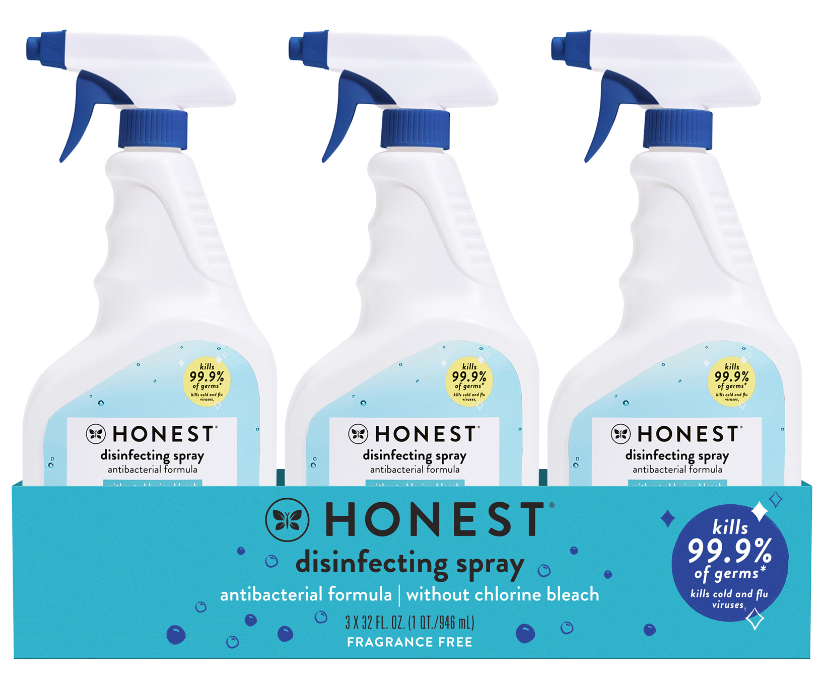 Disinfecting Spray 3-Pack Front