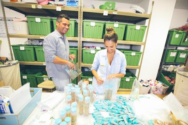 Jessica and Cash Prepare Donations