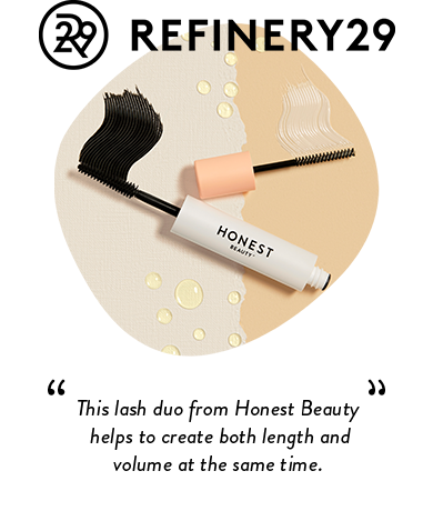Refinery29 | This lash duo from Honest Beauty helps to create both length and volume at the same time.