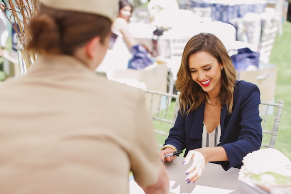 Jessica Signs Books for the Navy Moms