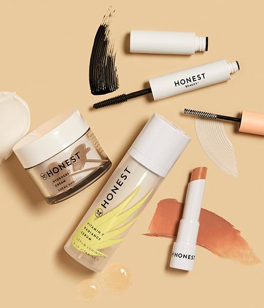 Extreme Length Mascara + Primer, Vitamin C Serum, Hydrogel Cream and Tinted Lip Balm
