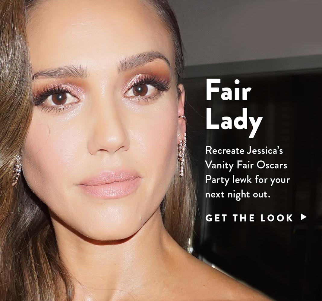 Recreate Jessica's Vanity Fair Oscar's Party Look. Shop Now