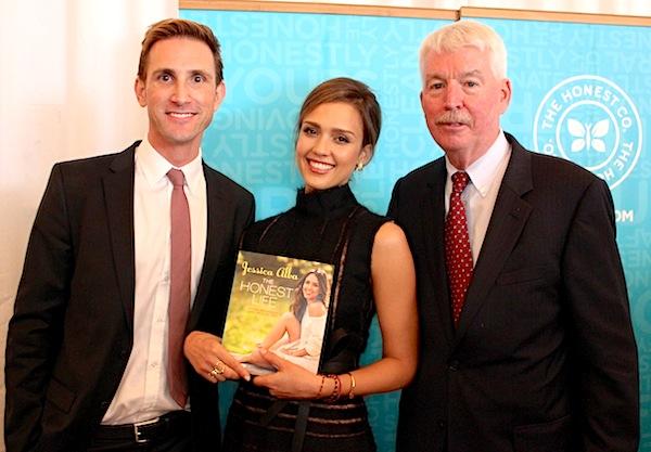 Jessica Alba & Christopher Gavigan Meet with Dr. Philip Landrigan