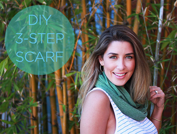 Make It Now: DIY 3-Step Scarf