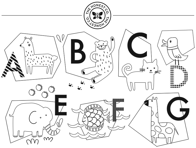 abcs coloring page