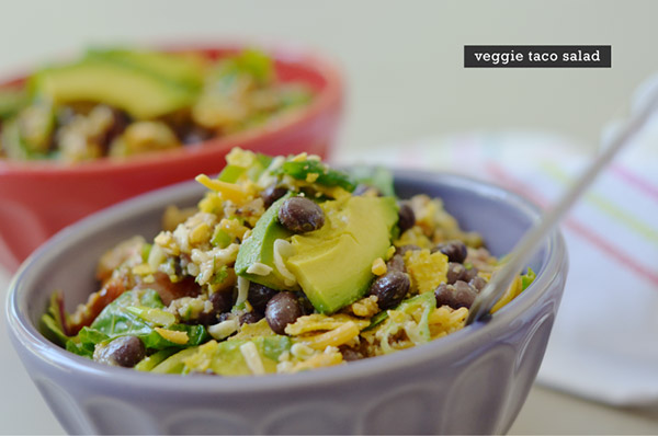 Taco Time! Taco Salad Recipe + Meatless How-To